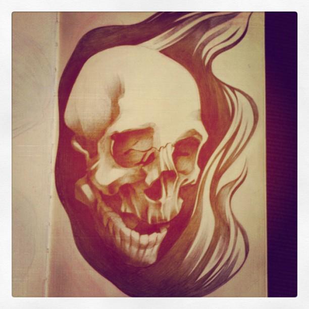 Sketchbook – Skull Progress – 3