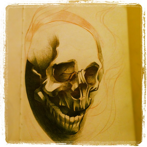 Sketchbook – Skull Progress – 2