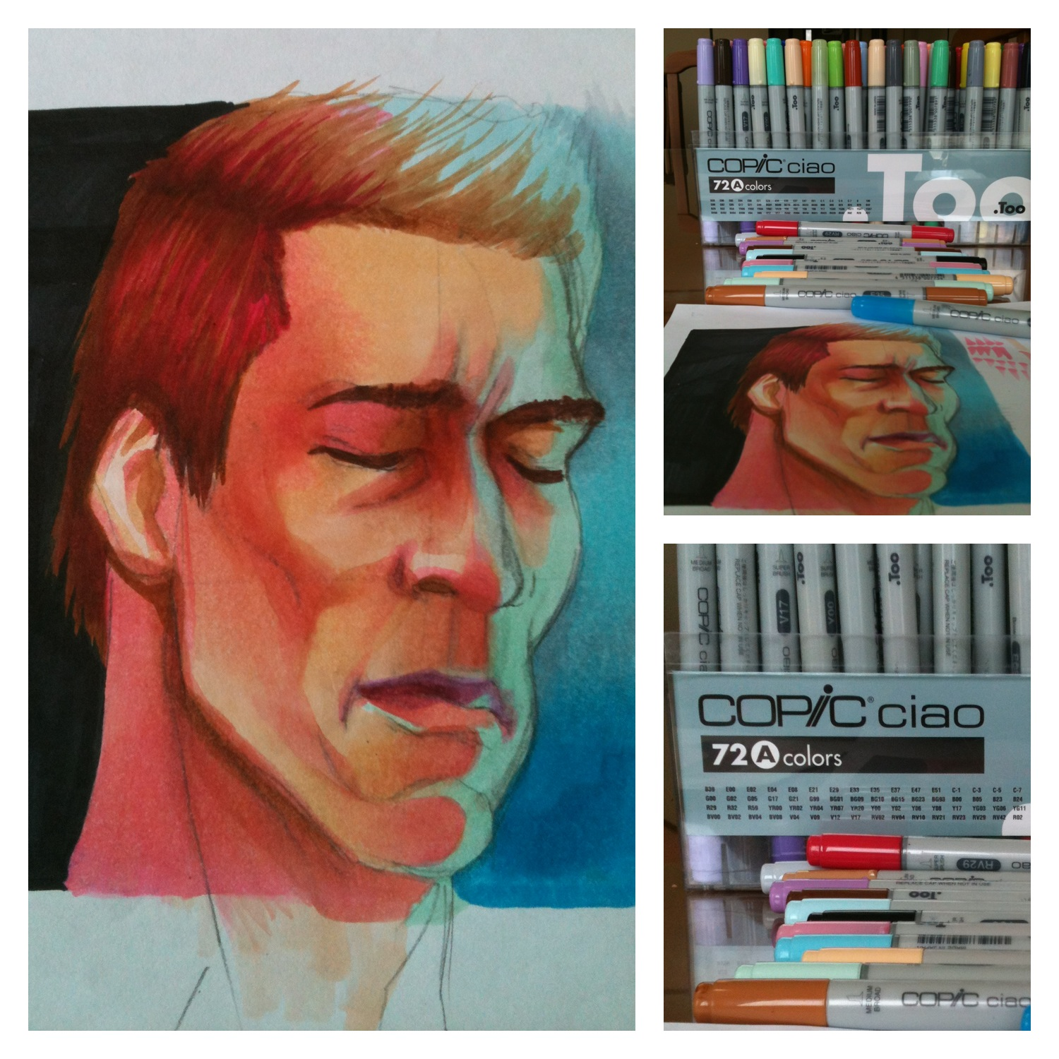 Copic Schwarzenegger – Finished