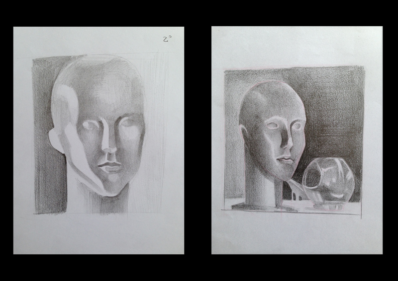 01/03/13 – Estudo de Grafite – Aula de observação