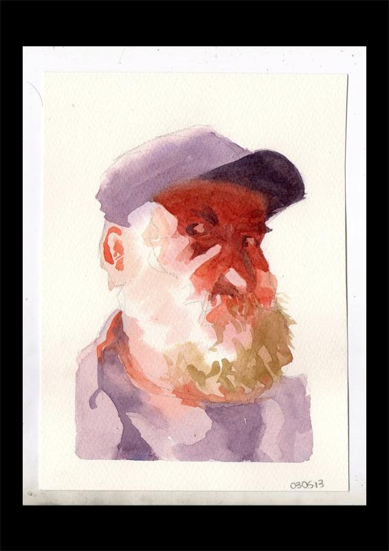 03/05/13 – Estudo com aquarela – Rosto