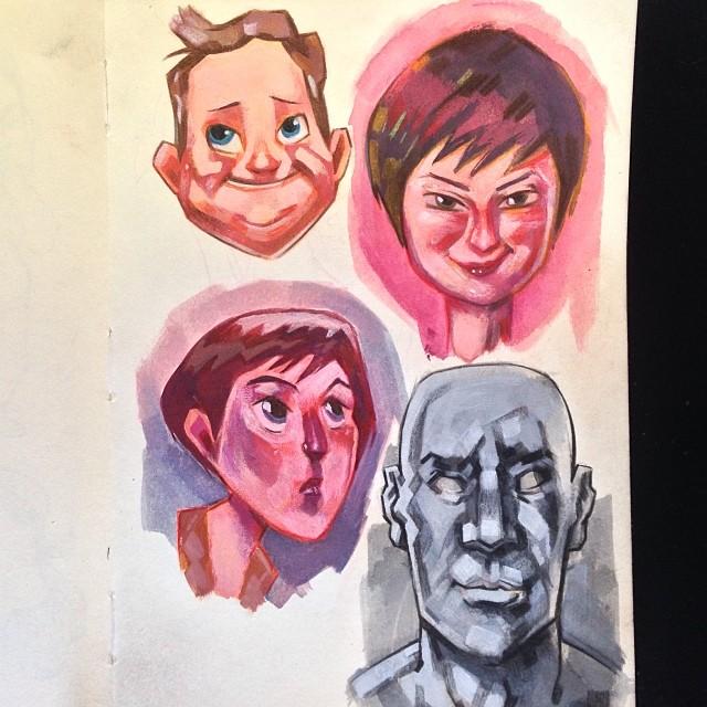 Sketchbook + Guache + Lápis de Cor
