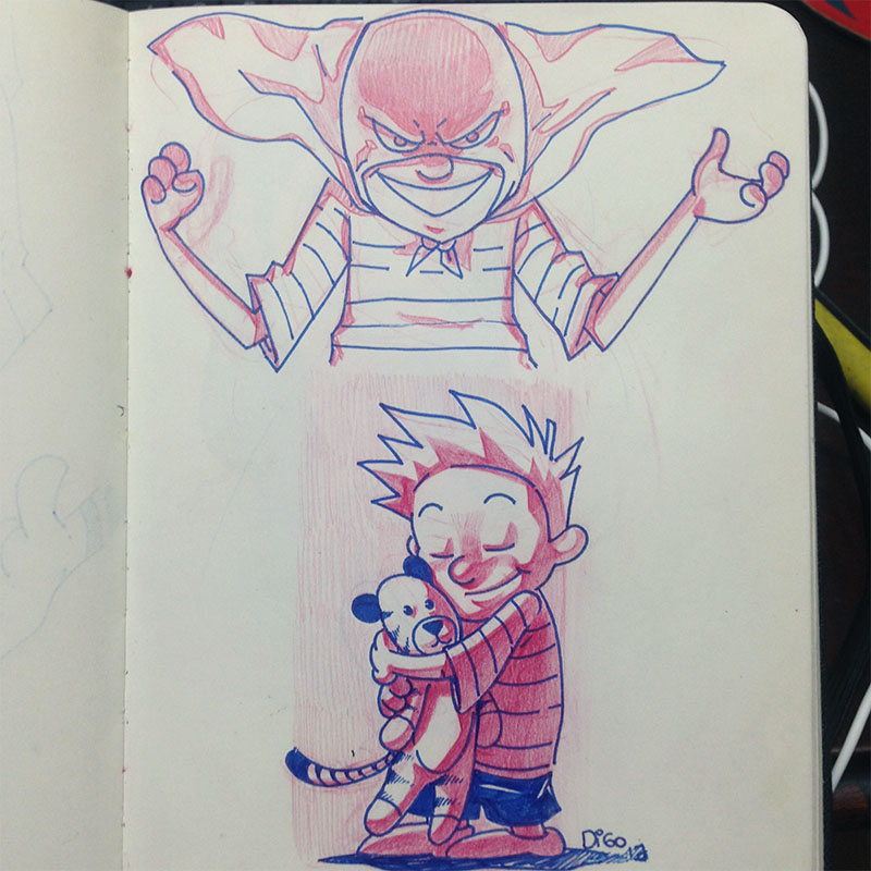 Sketchbook – Calvin & Haroldo